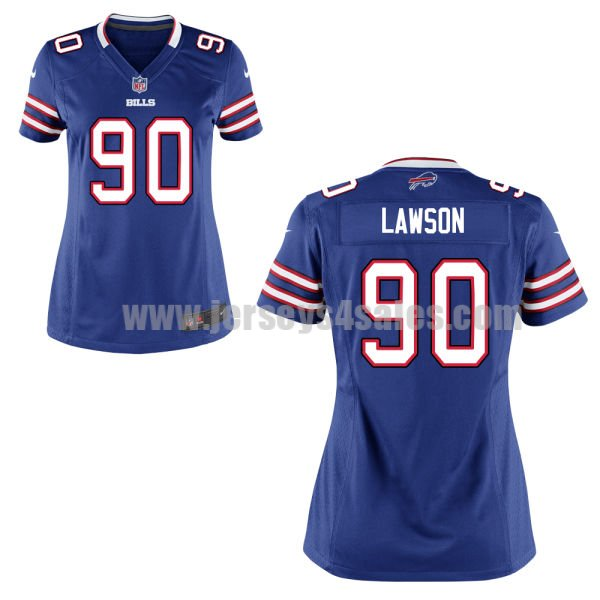 Women's Buffalo Bills #90 Shaq Lawson Royal Blue Stitched Nike NFL Home Elite Jersey