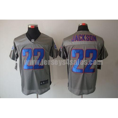 Nike Bills #22 Fred Jackson Grey Shadow Men's Stitched NFL Elite Jersey