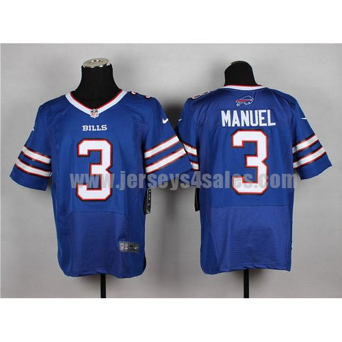 Men's Buffalo Bills #3 EJ Manuel Royal Blue Stitched Nike NFL Home Elite Jersey