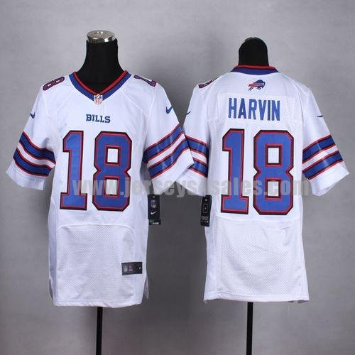 Men's Buffalo Bills #18 Percy Harvin White Stitched Nike NFL Road Elite Jersey