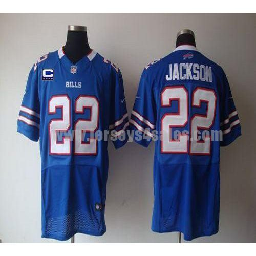 Nike Bills #22 Fred Jackson Royal Blue Team Color With C Patch Men's Stitched NFL Elite Jersey