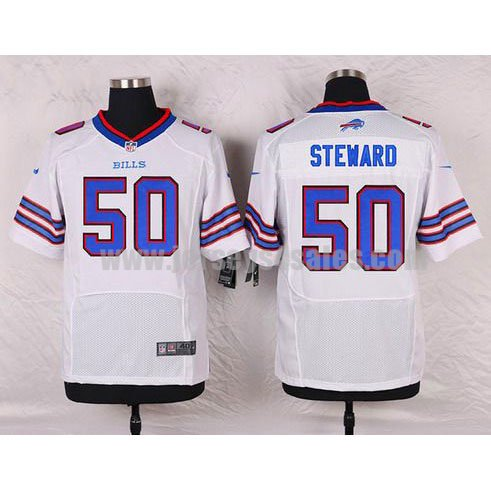 Men's Buffalo Bills #50 Tony Steward White Stitched Nike NFL Road Elite Jersey