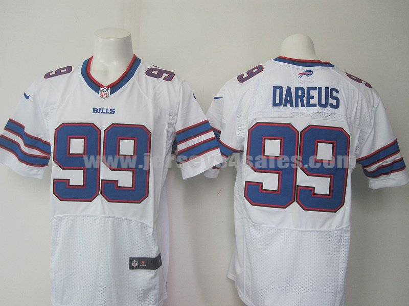Nike Bills #99 Marcell Dareus White Men's Stitched NFL Elite Jersey