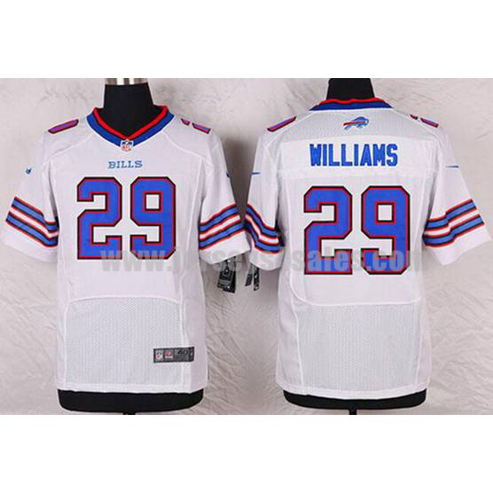 Men's Buffalo Bills #29 Karlos Williams White Stitched Nike NFL Road Elite Jersey