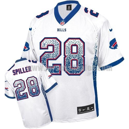 Nike Bills #28 C.J. Spiller White Men's Stitched NFL Elite Drift Fashion Jersey