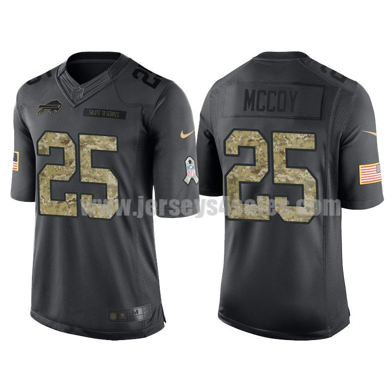 Men's Buffalo Bills #25 LeSean McCoy Anthracite Stitched Nike NFL Salute To Service Limited Jersey