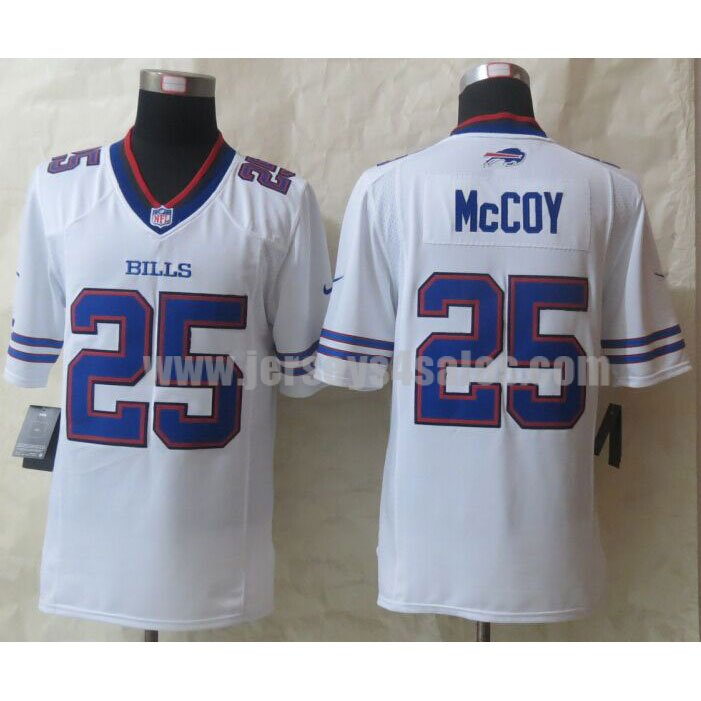 Men's Buffalo Bills #25 LeSean McCoy White Stitched Nike NFL Limited Jersey