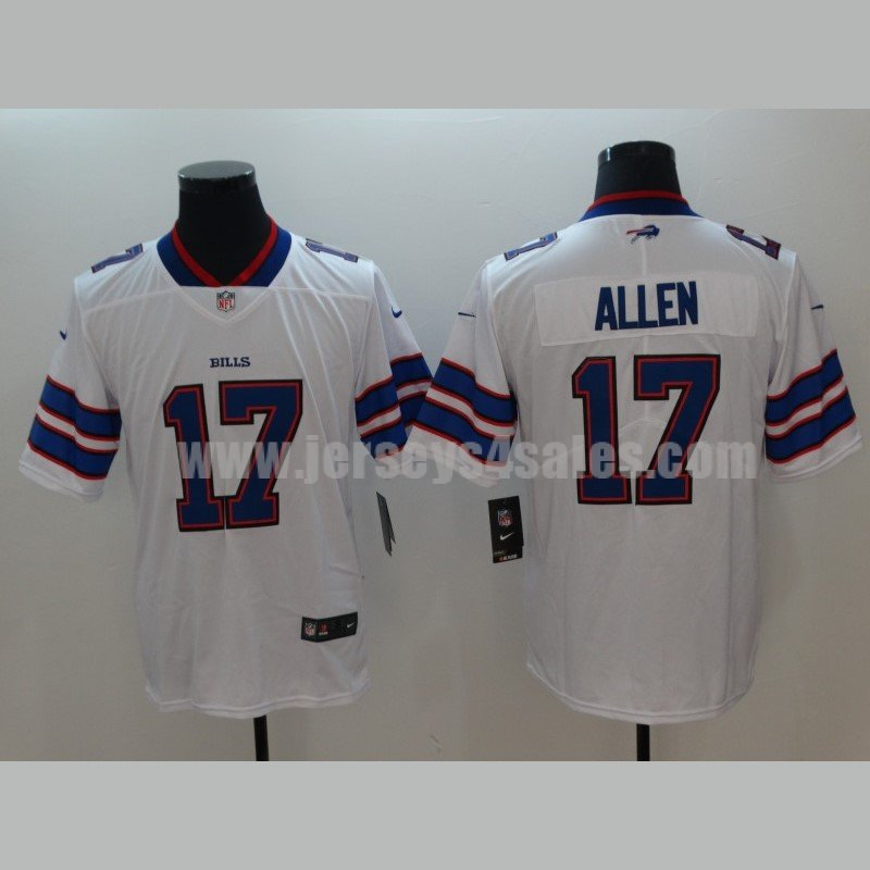 Men's Buffalo Bills #17 Josh Allen Nike White 2018 NFL Draft First Pick Game Jersey