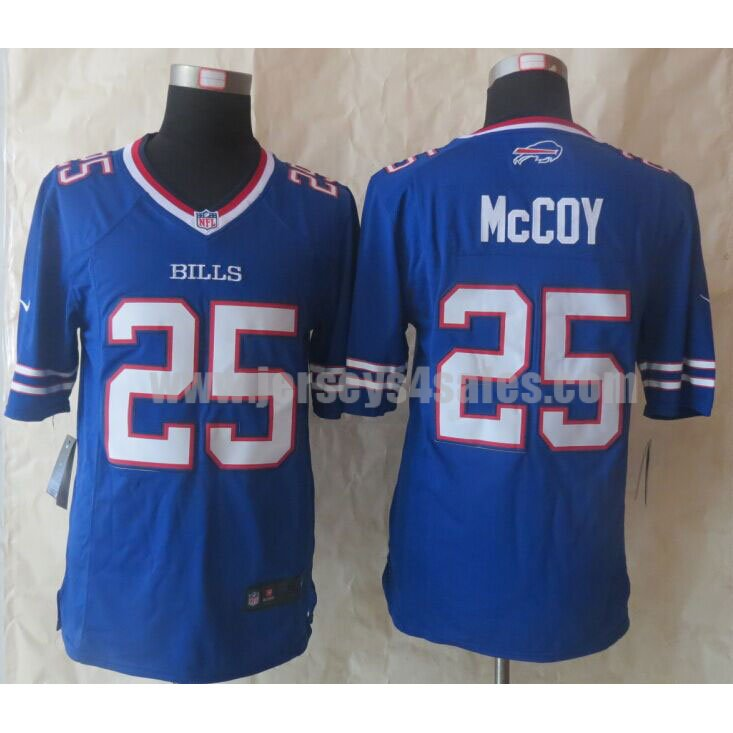 Men's Buffalo Bills #25 LeSean McCoy Royal Blue Team Color Stitched Nike NFL Limited Jersey