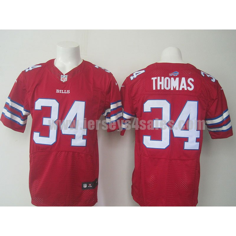 Men's Buffalo Bills #34 Thurman Thomas Red Stitched Retired Player Nike NFL Color Rush Limited Jersey