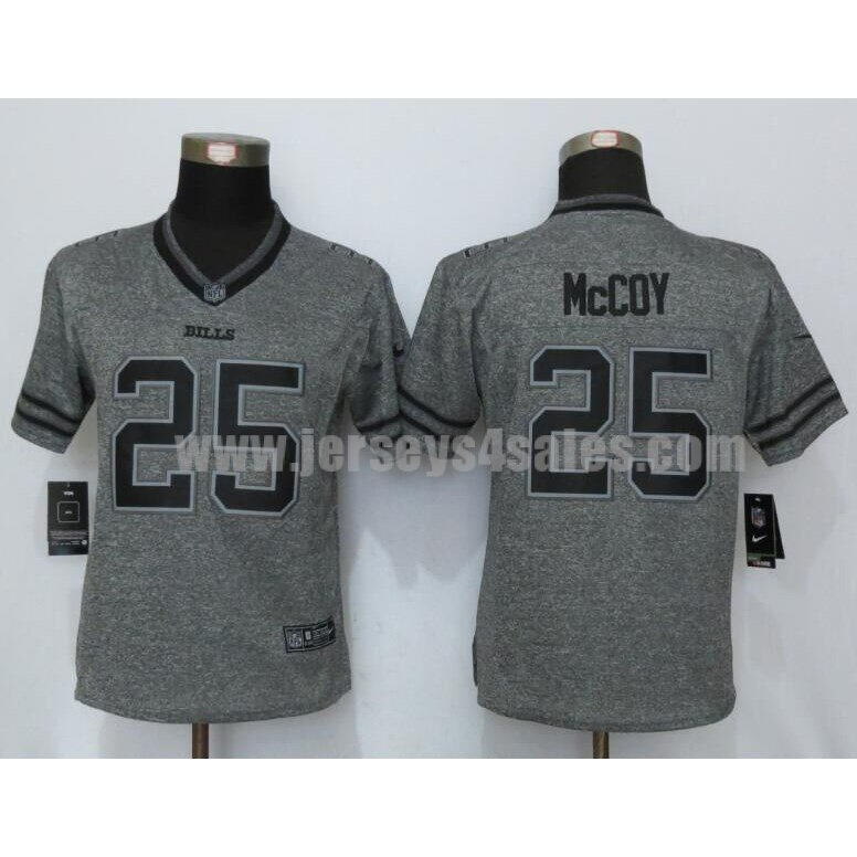 Women's Buffalo Bills #25 LeSean McCoy Grey Stitched Nike NFL Gridiron Limited Jersey