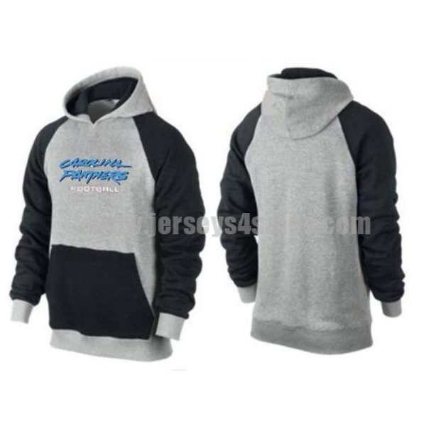 Carolina Panthers Critical Victory Pullover Hoodie Dark Grey & Blue