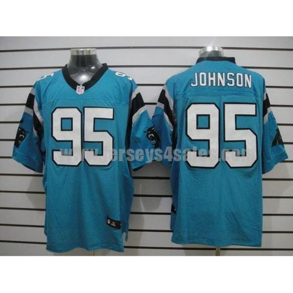 Nike Panthers #95 Charles Johnson Blue Alternate Men's Stitched NFL Elite Jersey