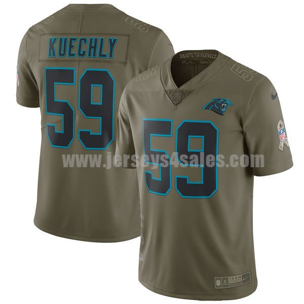 Men's Carolina Panthers #59 Luke Kuechly Olive Nike NFL 2017 Salute To Service Limited Jersey