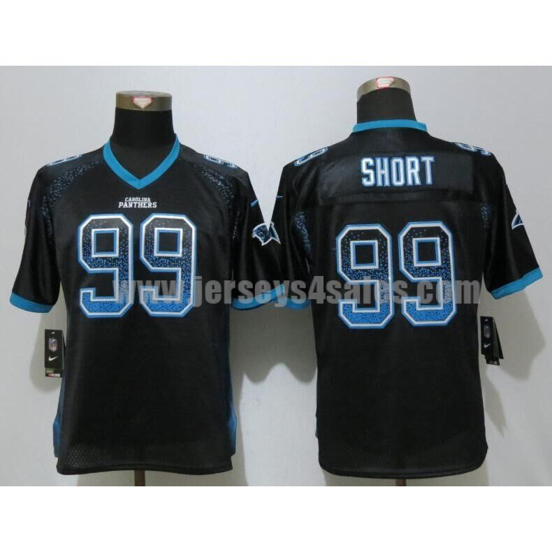 Women's Carolina Panthers #99 Kawann Short Black Stitched Nike NFL Drift Fashion Elite Jersey