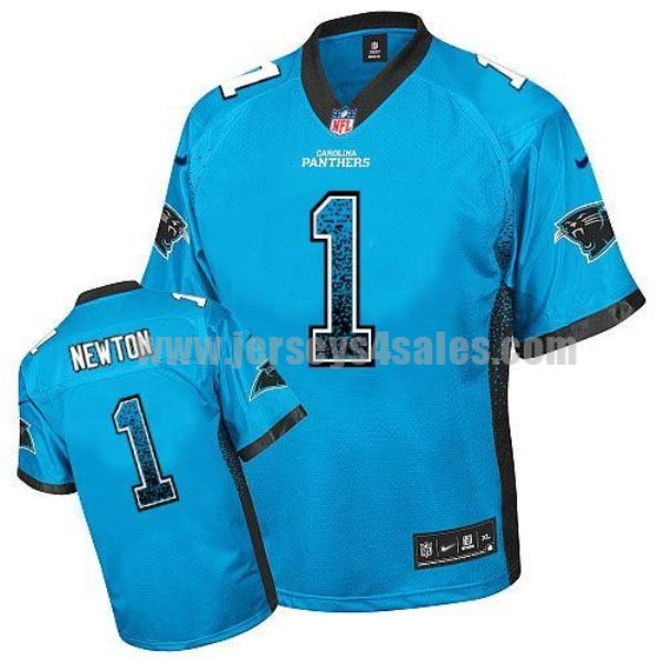 Nike Panthers #1 Cam Newton Blue Alternate Men's Stitched NFL Elite Drift Fashion Jersey