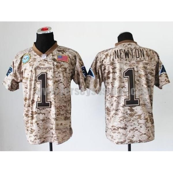 Nike Panthers #1 Cam Newton Camo Men's Stitched NFL New Elite USMC Jersey