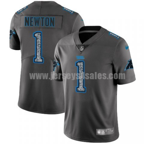 Men's Carolina Panthers #1 Cam Newton NFL Teams Gray Fashion Static Limited Jersey
