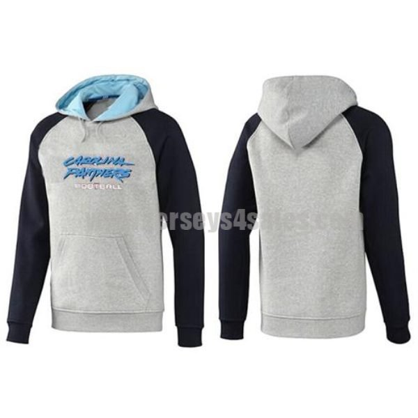 Carolina Panthers Critical Victory Pullover Hoodie Light Grey Blue