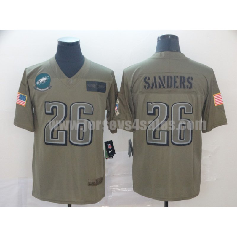 Men's Chicago Bears #26 Miles Sanders Nike Camo 2019 Salute to Service Limited Jersey