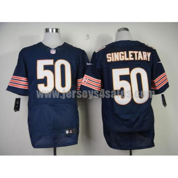 Nike Bears #50 Mike Singletary Navy Blue Team Color Men's Stitched NFL Elite Jersey