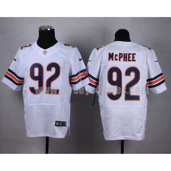 Nike Bears #92 Pernell McPhee White Men's Stitched NFL Elite Jersey