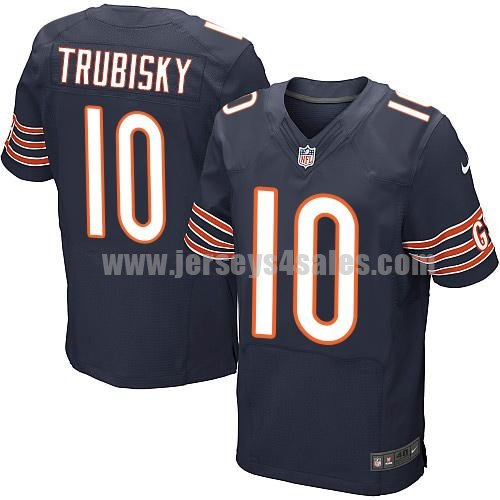 Men's Chicago Bears #10 Mitchell Trubisky Brown Nike NFL Elite Jersey
