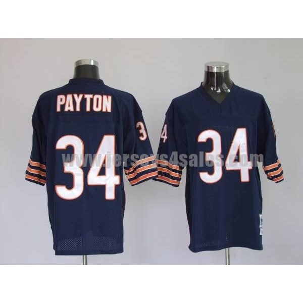 Mitchell & Ness Bears #34 Walter Payton Blue Stitched Throwback NFL Jersey