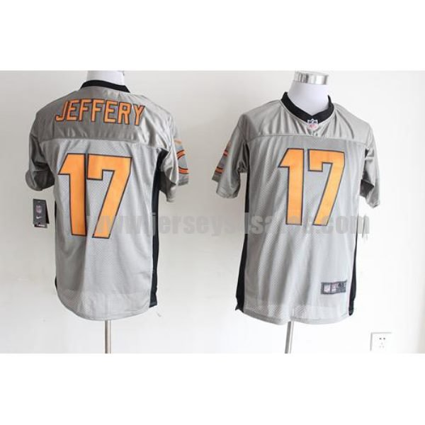Nike Bears #17 Alshon Jeffery Grey Shadow Men's Stitched NFL Elite Jersey