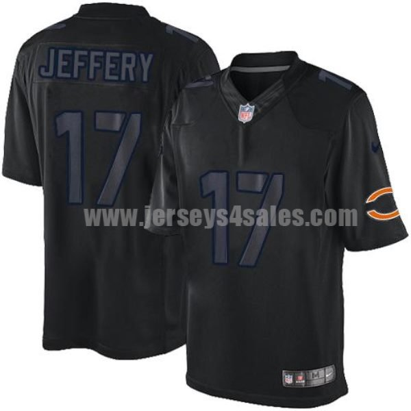 Nike Bears #17 Alshon Jeffery Black Men's Stitched NFL Impact Limited Jersey