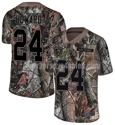 Men's Nike Chicago Bears #24 Jordan Howard Camo Stitched NFL Limited Rush Realtree Jersey