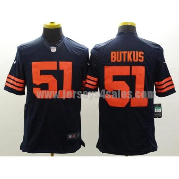 Nike Bears #51 Dick Butkus Navy Blue 1940s Throwback Men's Stitched NFL Limited Jersey