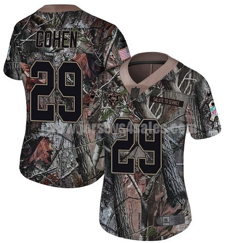 Women's Nike Chicago Bears #29 Tarik Cohen Camo Stitched NFL Limited Rush Realtree Jersey