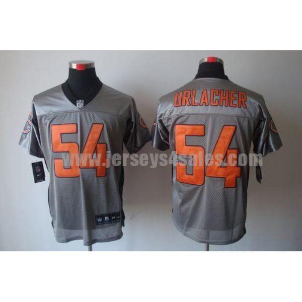 Nike Bears #54 Brian Urlacher Grey Shadow Men's Stitched NFL Elite Jersey