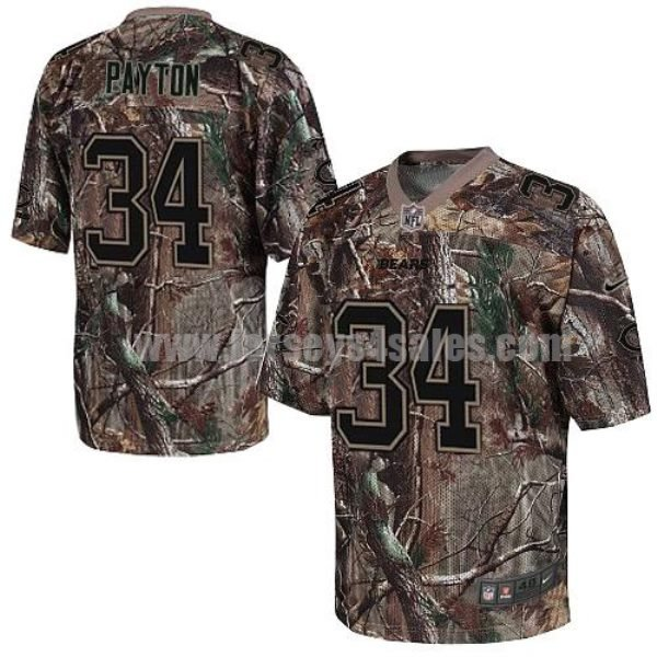 Nike Bears #34 Walter Payton Camo Men's Stitched NFL Realtree Elite Jersey