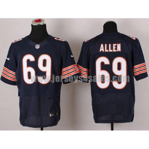 Nike Bears #69 Jared Allen Navy Blue Team Color Men's Stitched NFL Elite Jersey