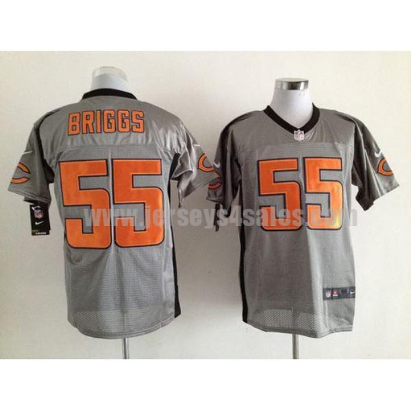 Nike Bears #55 Lance Briggs Grey Shadow Men's Stitched NFL Elite Jersey