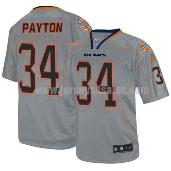 Nike Bears #34 Walter Payton Lights Out Grey Men's Stitched NFL Elite Jersey