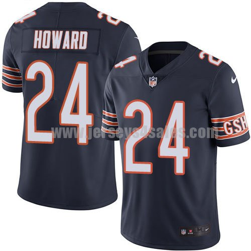 Men's Chicago Bears #24 Jordan Howard Navy Blue Nike NFL Vapor Untouchable Limited Jersey