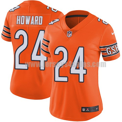 Women's Nike Chicago Bears #24 Jordan Howard Orange Stitched NFL Limited Rush Jersey