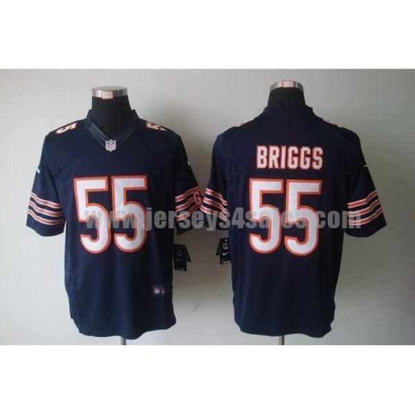 Nike Bears #55 Lance Briggs Navy Blue Team Color Men's Stitched NFL Limited Jersey