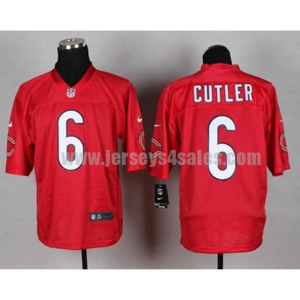 Nike Bears #6 Jay Cutler Red Men's Stitched NFL Elite QB Practice Jersey