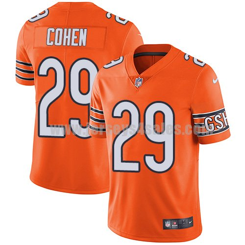 Youth Nike Chicago Bears #29 Tarik Cohen Orange Stitched NFL Limited Rush Jersey