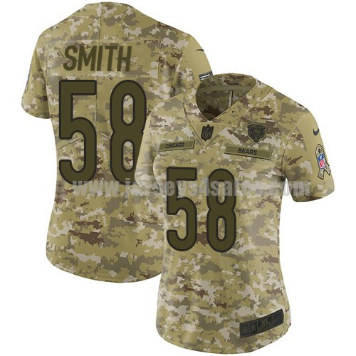 Women's Nike Chicago Bears #58 Roquan Smith Camo Stitched NFL Limited 2018 Salute to Service Jersey