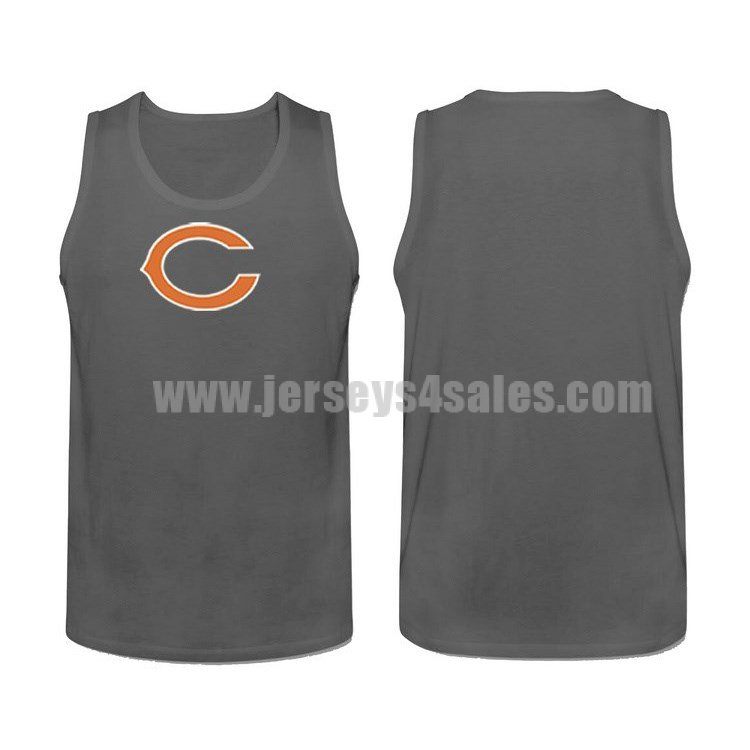 Men's Chicago Bears Cotton Team Nike NFL Charcoal Tank Top