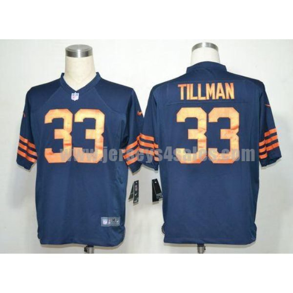 Nike Bears #33 Charles Tillman Navy Blue 1940s Throwback Men's Stitched NFL Game Jersey