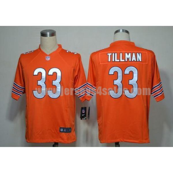 Nike Bears #33 Charles Tillman Orange Alternate Men's Stitched NFL Game Jersey