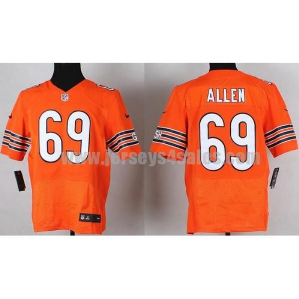 Nike Bears #69 Jared Allen Orange Alternate Men's Stitched NFL Elite Jersey