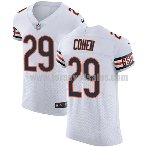 Men's Nike Chicago Bears #29 Tarik Cohen White Stitched NFL Vapor Untouchable Elite Jersey