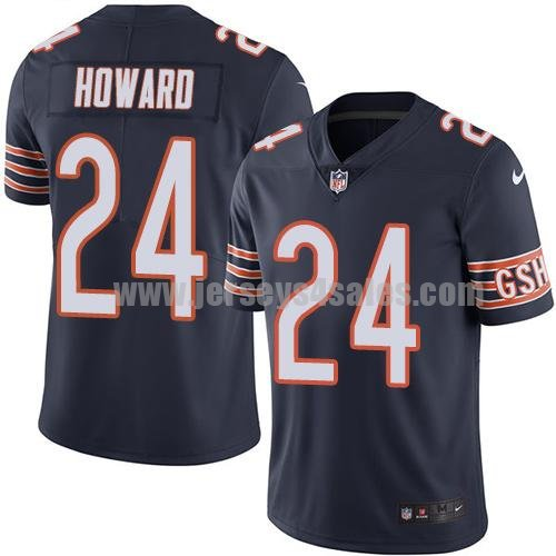 Youth Nike Chicago Bears #24 Jordan Howard Navy Blue Team Color Stitched NFL Vapor Untouchable Limited Jersey